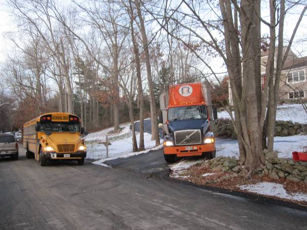 Trailer and schoolbus