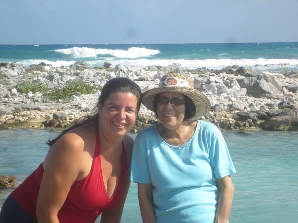 Our beach here in Puerto Aventuras