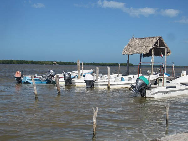 Our boats were waiting for us