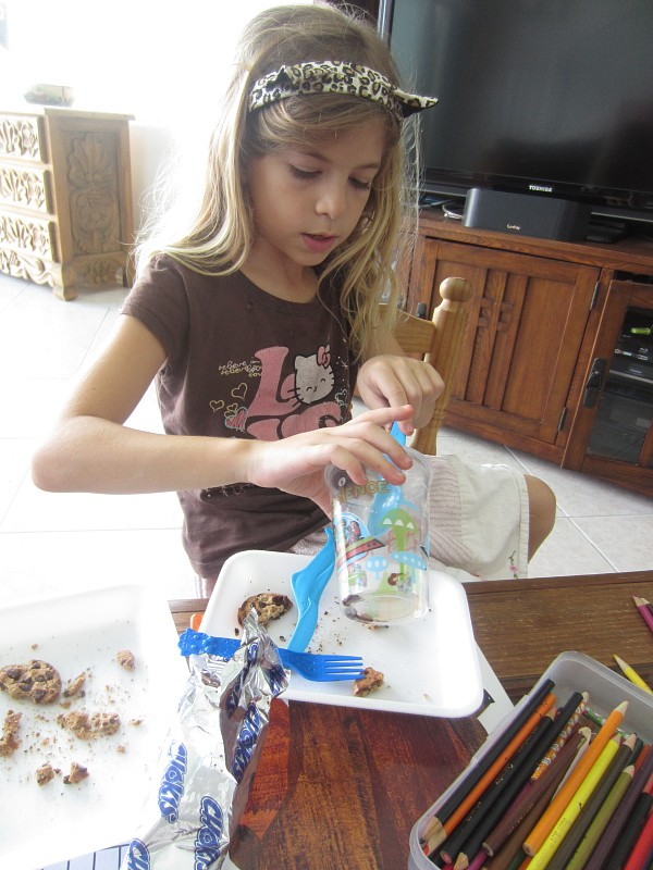 """""""Excavating"""" for fossils in chocolate chip cookies"""